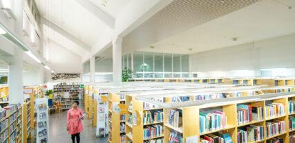 interiör i biblioteket