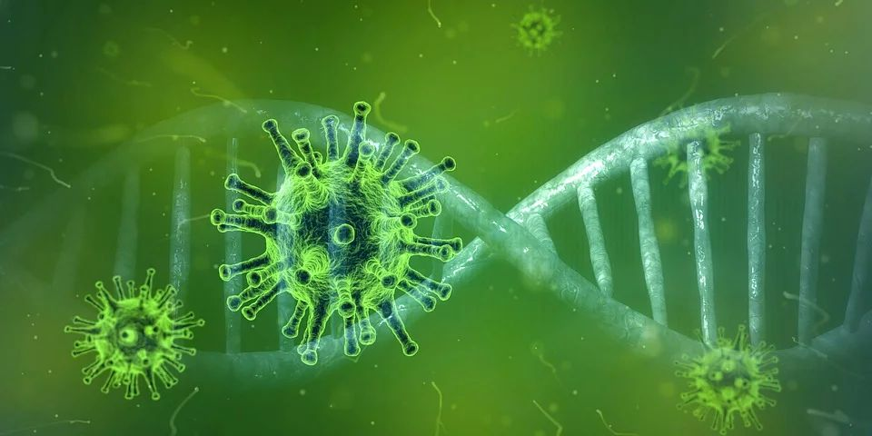 Kuva vihreästä koronaviruksesta