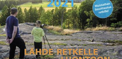 Vuoden 2021 luontoretkikalenterin kansikuva